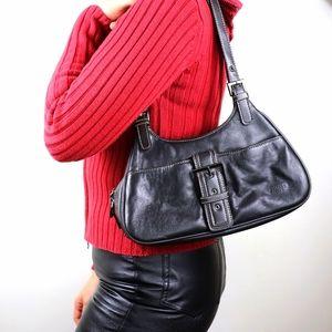 Vintage Genuine leather shoulder bag front buckle